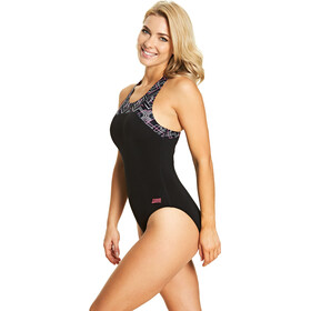 Zoggs Electric Zipped Back Swimsuit Damen black/multi